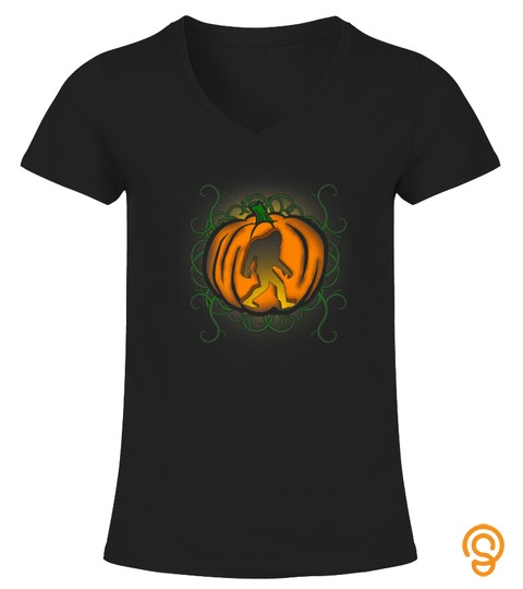 Bigfoot Sasquatch Pumpkin Halloween Shirt Carved Kids Dad Tshirt   Hoodie   Mug (Full Size And Color)