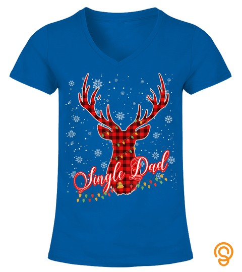 Single Dad Reindeer Family Matching Pajama Christmas T Shirt