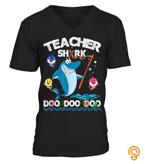 Teacher Shark Doo Doo Funny Autism Awareness Teacher T Shirt