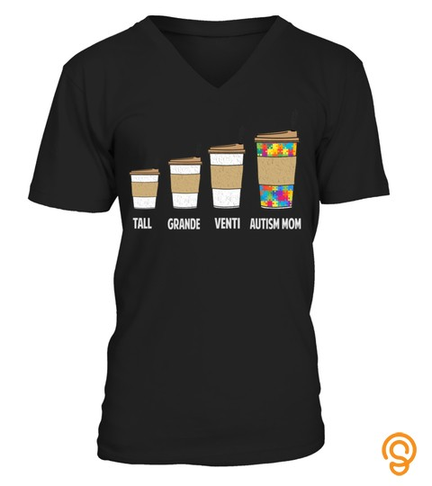 Funny Coffee Autism Mom Tshirt For Autism Awareness Long Sleeve T Shirt