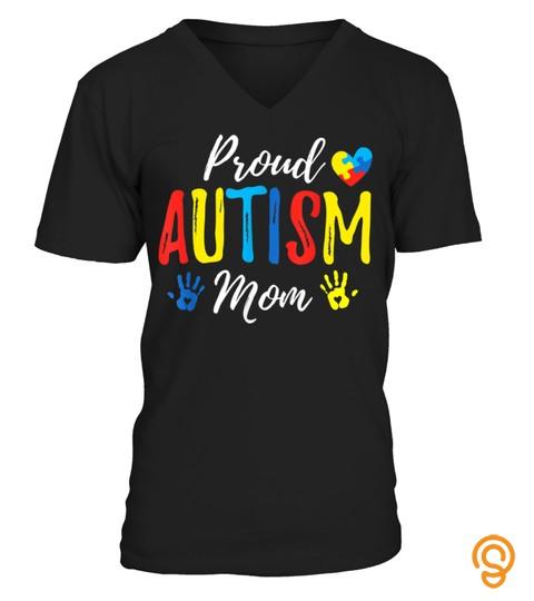 Proud Mom Autism Awareness Family Matching Shirt