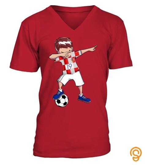 19 Number Football Team Croatia Shirt