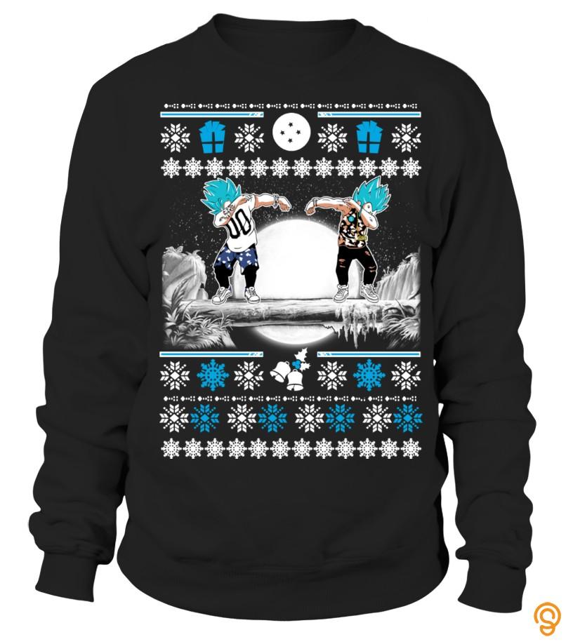 full-priced-goku-vegeta-dab-ugly-christmas-sweater-t-shirts-ideas