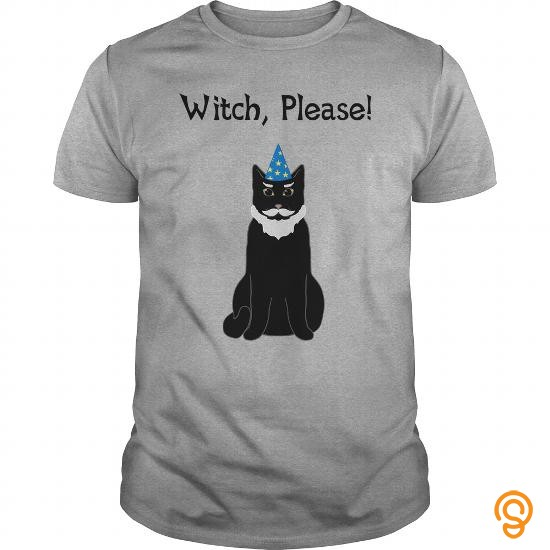 Perfect Fit Witch Please Wizard cat Tee Shirts Apparel