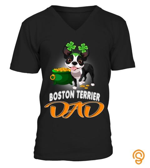 Boston Terrier Dad Celebrates Saint Patrick Day