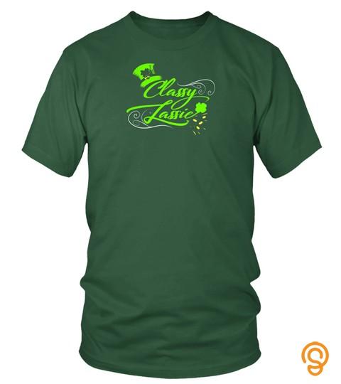 Womens St Patricks Day Shirt Women Sexy Irish Shamrock Lucky Premium T Shirt
