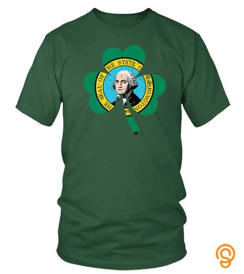 Washington Irish Shamrock St Patricks Day Men Woman Shirt