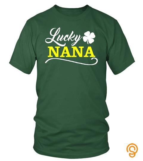 Lucky Nana Fun Family Saint Patrick's Day Holiday T Shirt