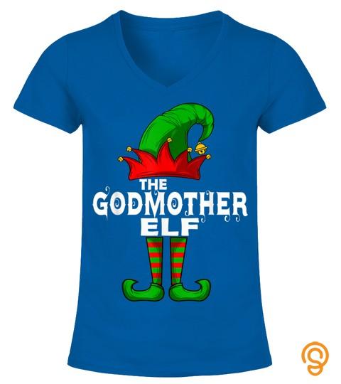 Godmother Elf Family Christmas Group Matching Pj Gift T Shirt
