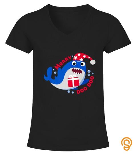 Christmas Doo Doo Elf Shark For Family Matching Tshirt   Hoodie   Mug (Full Size And Color)