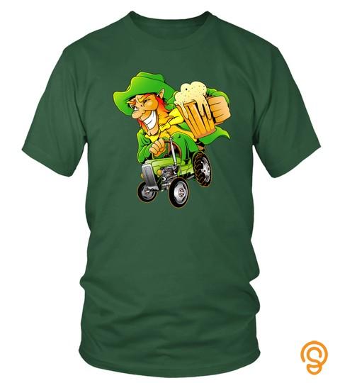 Irish Farmer Leprechaun Beer Shirt Farm Tractor St Patricks