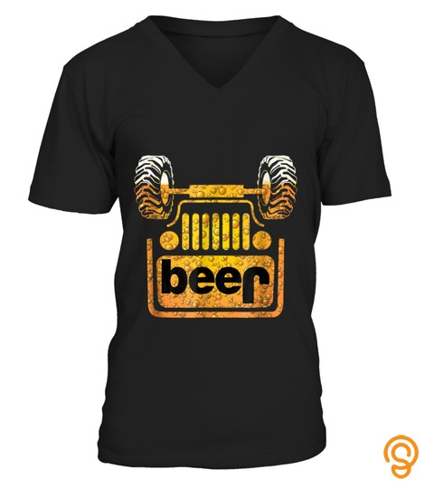 Wrecked Jeep Beer T Shirt