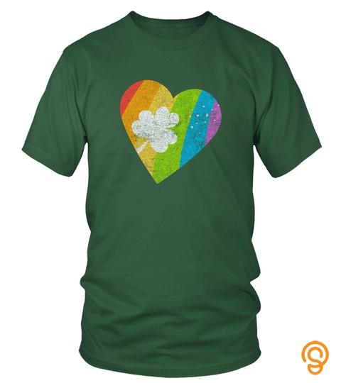 Pride Shamrock Heart Gay Lesbian Lgbt Saint Patricks T Shirt