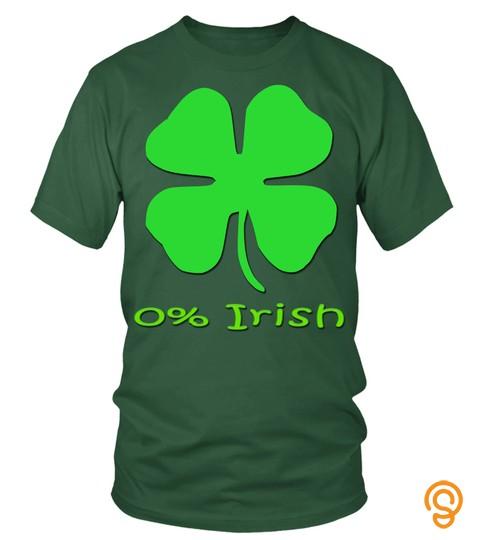 Kids Kids Not Irish 0 St. Patrick's Day Green Shamrock Tshirt