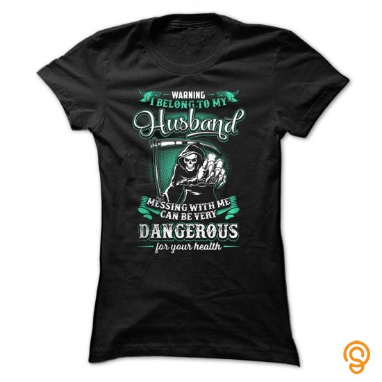 Name Brand WARNINGI Belong To My Husband T Shirts Size Xxl