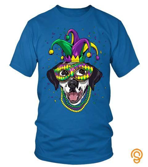 Dalmatian Dog Lover Cute Mardi Gras Carnival Jester Sweatshirt