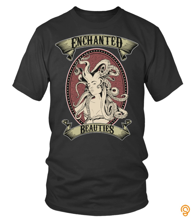 Finely Detailed Enchanted Beauties   Miss Octopus Tee Shirts Sale