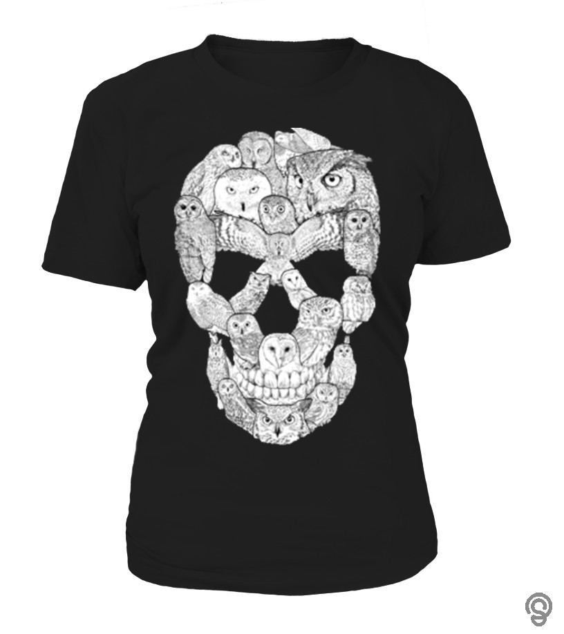 Sporty Cute skull owls Tee Shirts For Sale