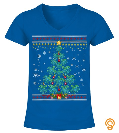 Funny Christmas Tree Turtle Merry Christmas Ugly Sweater T Shirt