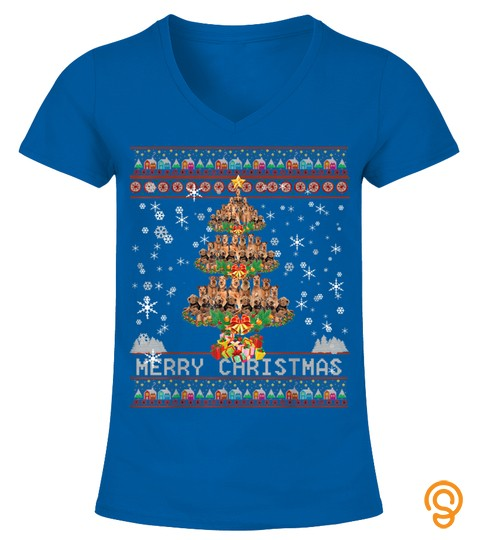 Merry Christmas Tree Airedale Terrier Ugly Sweater Xmas Gift T Shirt