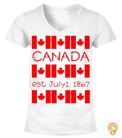 Canada Day Maple Leaf Canadian Flag Typo