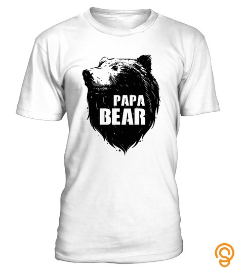 Papa Bear T Shirt   Father's Day T Shirt