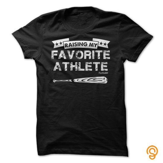 Flexible Raising my favorite baseball athlete T Shirts Apparel