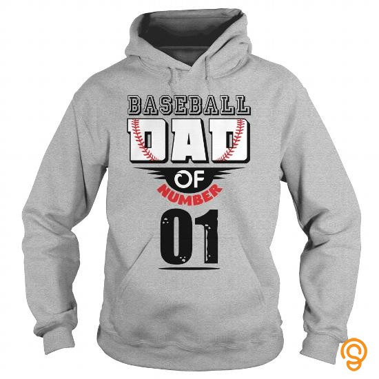 Designer Baseball dad of number 01 T Shirts Apparel