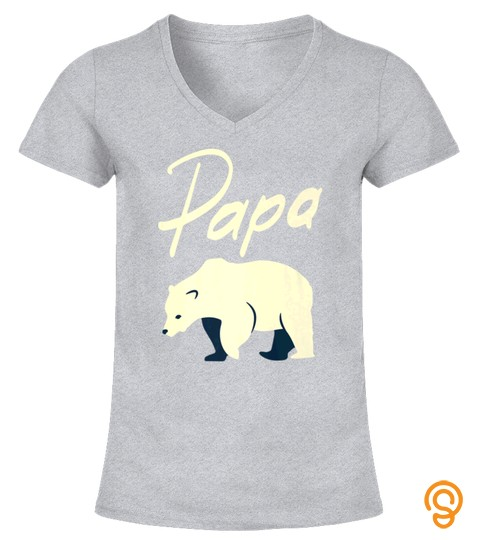 Mens Papa Bear TShirt Tee Gift for Dad  Grandpa Father Tee