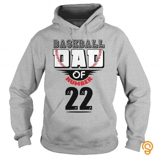 efficient-baseball-dad-of-number-22-tee-shirts-sayings-men
