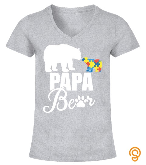 Autistic Papa Bear Autism Awareness 2018 Tshirt