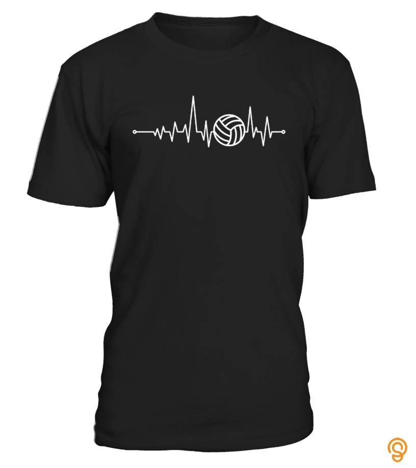 Flexible Heartbeat Volleyball T Shirts For Sale