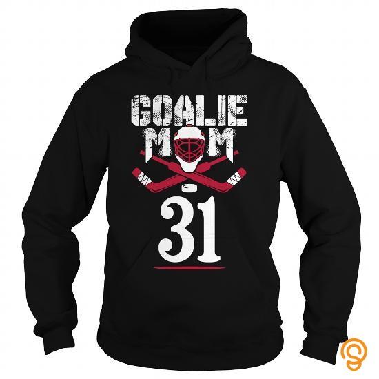 Premium Goalie mom hockey number 31 T Shirts Apparel