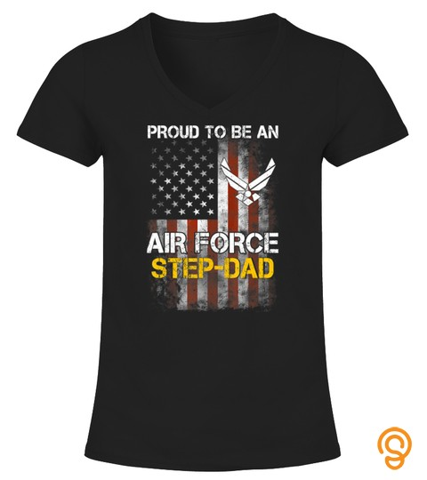 Proud Air Force Step-Dad Funny American Flag T-Shirt T-Shirt