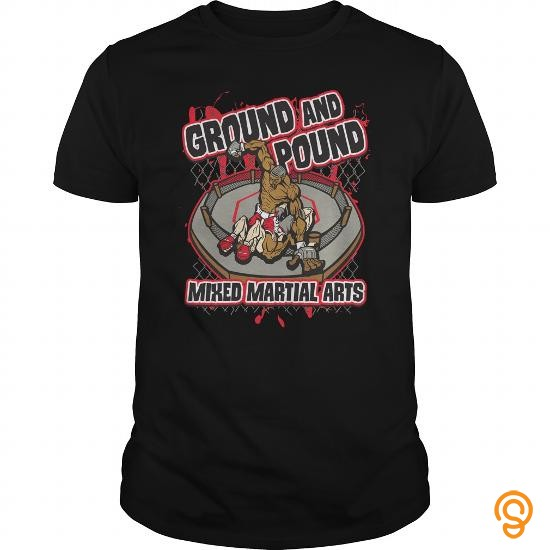 Beautiful Ground and Pound Mixed Martial Arts Tshirt T Shirts Sayings Women