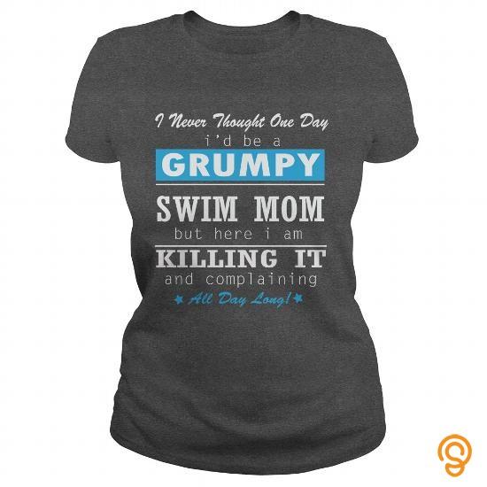 Wardrobe GRUMPY SWIM MOM Tee Shirts Sayings Men