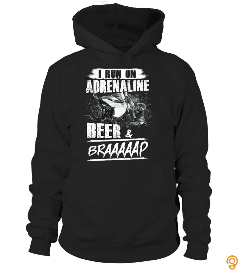 aa152a714 Silky Soft Beer & Braaap Snowmobile T Shirt Tee Shirts For Sale ...