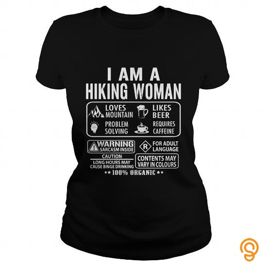 Handsome I AM A HIKING WOMAN T Shirts Clothing Brand