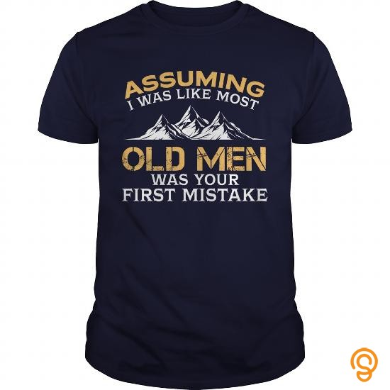 standard-fit-assuming-i-was-like-most-old-men-was-your-first-mistake-climbing-tshirt-tee-shirts-sale