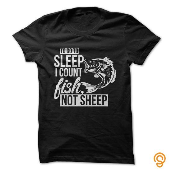 Efficient Love fishing  Count Fish to go to sleep Tee Shirts Sayings Women