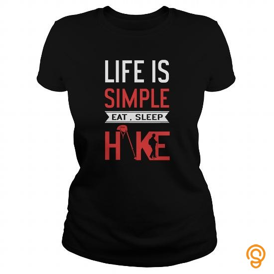 Printed HikingCamping Life Is Simple Tee Shirts Clothing Brand