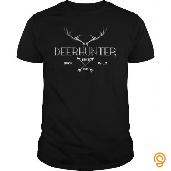 fitted-deerhunter-since-1980-tee-shirts-sayings-women
