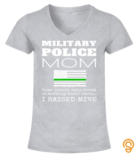 Proud Military Police Mom Mp Mother Thin Green Line Us Flag T Shirt