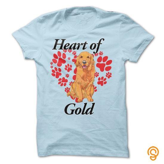 Glamorous Golden Retriever   Heart of Gold Tee Shirts Size Xxl