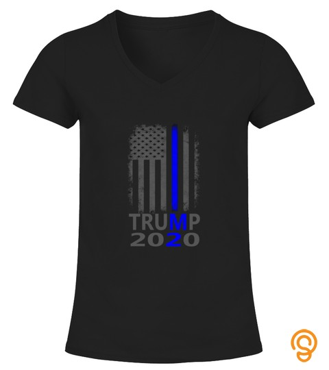 Thin Blue Line Trump 2020 American Flag Vintage Tee T Shirt Sweatshirt Pullover Hoodie