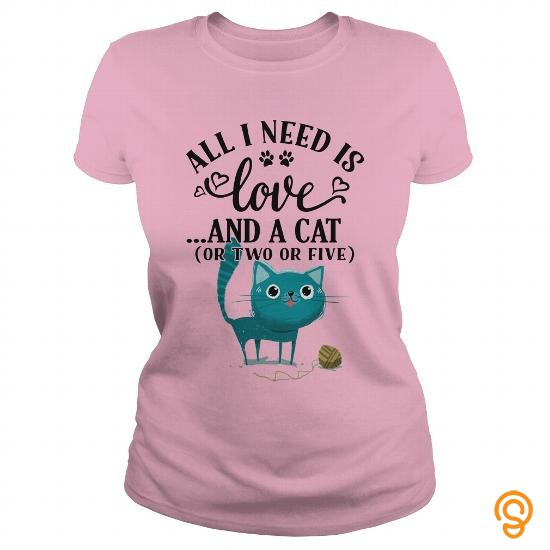 practical-all-i-need-is-love-and-a-cat-tee-shirts-gift