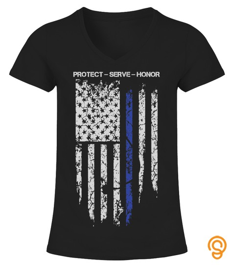 Thin Blue Line   Protect Serve Honor