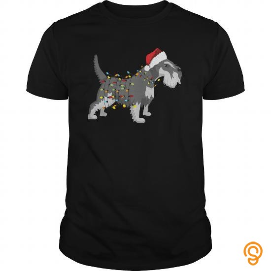 funny-christmas-lights-schnauzer-dogs-t-shirts-for-sale