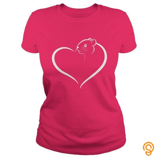 Fitted Hamster Heart T Shirts Apparel