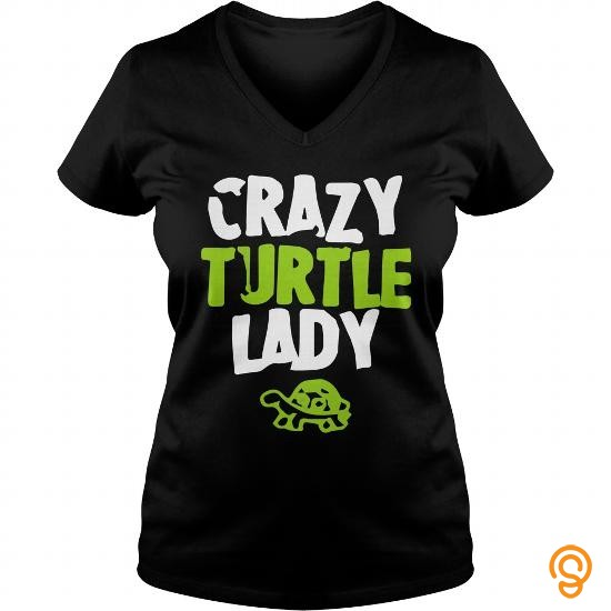 Relaxed crazy turtle lady T Shirts Design